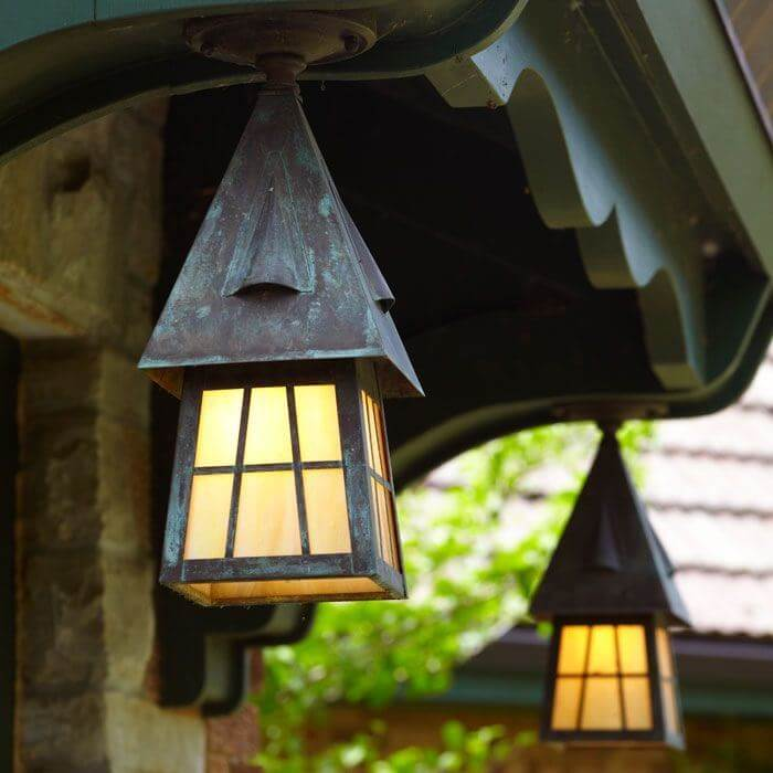 Lantern 6 In Wide Semi Flush Exterior Ceiling Light