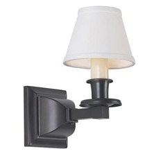 Oak Park™ One Light Straight Arm Sconce with electric candle