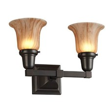 Glen Ellyn™ Two Light Straight Arm Sconce with 2-1/4 in. shade holders