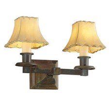 Oak Park™ Two Light Straight Arm Sconce with electric candles