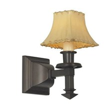 Wentworth™ One Light Straight Arm Wall Sconce with electric candle