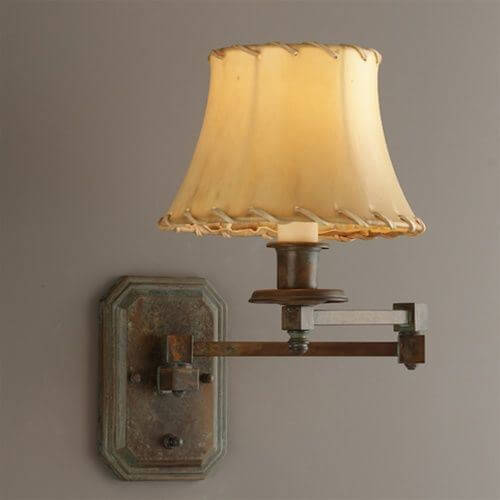 Highland Park One Light Swing Arm Sconce with electric candle