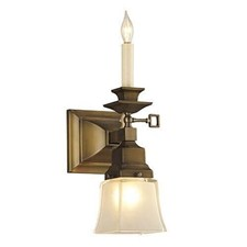 Summit™ Two Light Gas-Electric Sconce with 2-1/4 in. shade holder & candle