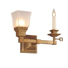 Summit™ Two Light Gas-Electric Sconce with 2-1/4 in. shade holder & candle right