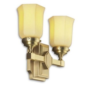 McCormick Two Light Straight Arm Sconce with 2-1/4 in. shade holders