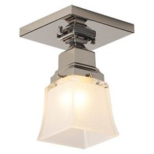 Spring Green™ One Light Flush Ceiling Fixture with 2-1/4 in. shade holder