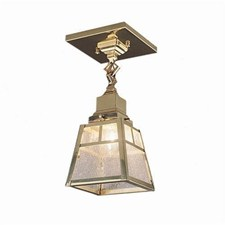Spring Green™ One Light Chain Link Ceiling Fixture with 2-1/4 in. shade holder
