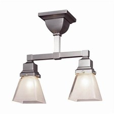 Oak Park™ Two Light Flush Ceiling Fixture with 2-1/4 in. shade holders