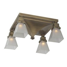 Golden Gate™ Four Light Flush Ceiling Fixture with 2-1/4 in. shade holders