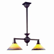 Glen Ellyn™ Two Light Chandelier with 2-1/4 in. shade holders down