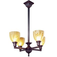 Glen Ellyn™ Four Light Chandelier with 2-1/4 in. shade holders up