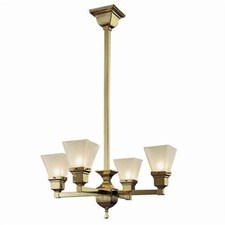 Oak Park™ Four Light Chandelier with 2-1/4 in. shade holders up