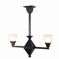Golden Gate™ Two Light Chandelier with 2-1/4 in. shade holders up