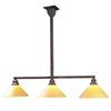 Oak Park™ Three Light Linear Chandelier with 2-1/4 in. shade holders