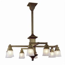 Hartford™ Eight Light Chandelier with 2-1/4 in. shade holders down