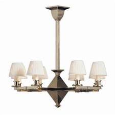 Golden Gate™ Eight Light Chandelier with electric candles