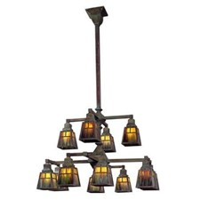 Golden Gate™ Twelve Light Two Tier Chandelier with 2-1/4 in. shade holders down