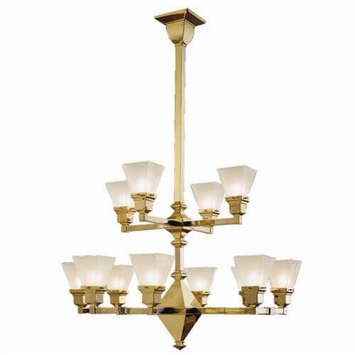 Golden Gate™ Twelve Light Two Tier Chandelier with 2-1/4 in. shade holders up
