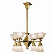 Summit™ Eight Light Gas-Electric Chandelier with 2-1/4 in. & 4-1/4 in. shade holders