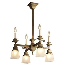 Summit™ Eight Light Gas-Electric Chandelier with 2-1/4 in. shade holders & candles