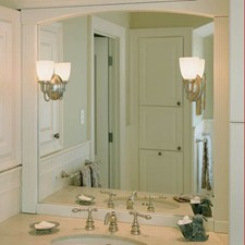 Glendale™ One Light Curved Arm Sconce with 2-1/4 in. shade holder