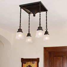 Golden Gate™ Four Light Chain Drop Chandelier with 2-1/4 in. shade holders