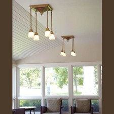Golden Gate™ Four Light Stem Drop Chandelier with 2-1/4 in. shade holders