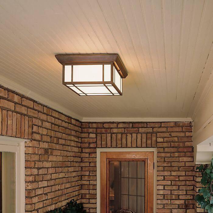Lantern 16 wide semi flush exterior ceiling light brass light wide semi flush exterior ceiling light aloadofball Choice Image