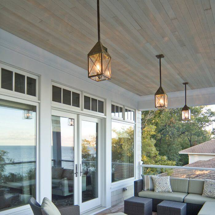 Lancaster™ Lantern 7 in. Wide Solid Stem Exterior Pendant Light