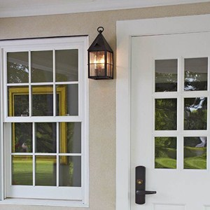 Lancaster™ Lantern 6 in. Wide Flush Exterior Wall Light