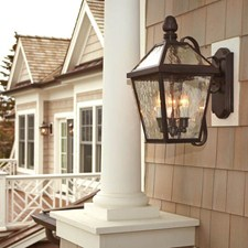 London™ Lantern 10 in. Wide Scrolled Arm Exterior Wall Light
