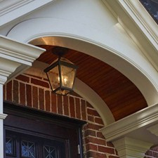 London™ Lantern 8 in. Wide Semi Flush Exterior Ceiling Light
