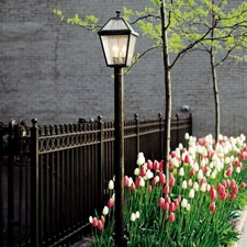 London™ Lantern 10 in. Wide Exterior Post Light