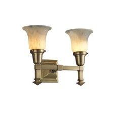 Wentworth™ Two Light Straight Arm Sconce with 2-1/4 in. shade holders