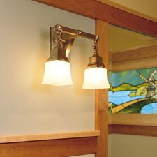 Nashota™ Two Light Chain Link Sconce with 2-1/4 in. shade holders