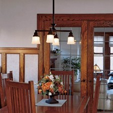 Oak Park™ Four Light Chandelier with 2-1/4 in. shade holders down