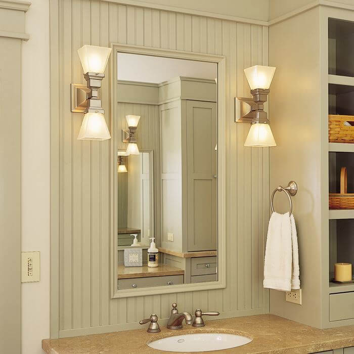Oak Park™ Two Light Linear Sconce with 2-1/4 in. shade holders