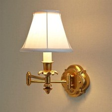 Montclair Style™ One Light Swing Arm Sconce with electric candle