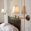 Carlton Style™ One Light Swing Arm Sconce with electric candle