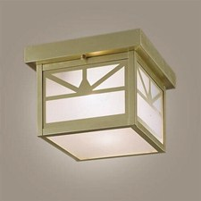 Sunrise Lantern™ 8 in. Wide Semi Flush Exterior Ceiling Light