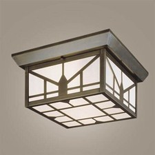 Sunrise Lantern™ 12 in. Wide Semi Flush Exterior Ceiling Light