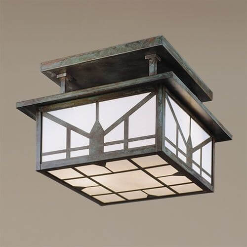 Sunrise Lantern™ 12 in. Wide Semi Flush Ceiling Fixture
