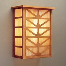 Sunrise Center Lantern™ 7 in. Wide Flush Exterior Wall Light with Roof
