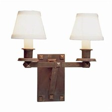 Nashota™ Two Light Bracket Sconce with electric candles