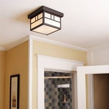 Ravenwood Lantern™ 8 in. Wide Semi Flush Exterior Ceiling Light