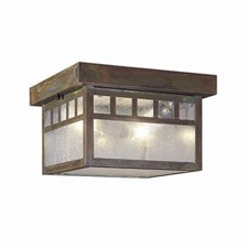 Ravenwood Lantern™ 10 in. Wide Semi Flush Exterior Ceiling Light