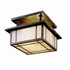 Alameda Lantern™ 12 in. Wide Semi Flush Ceiling Fixture
