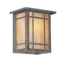 Chicago Lantern™ 7 in. Wide Flush Exterior Wall Light with Roof