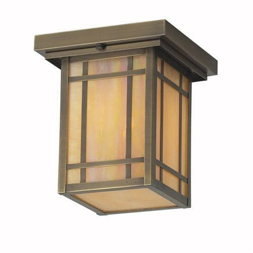 Chicago Lantern™ 7 in. Wide Semi Flush Exterior Ceiling Light