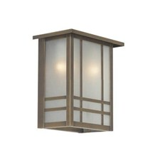 Chicago Lantern™ 10 in. Wide Flush Exterior Wall Light with Roof